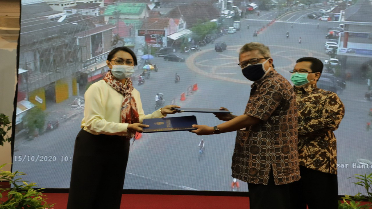 PJs. Bupati Bantul Launching  Inovasi Produk Dinas Kominfo Bantul CCTV di Lokasi Strategis