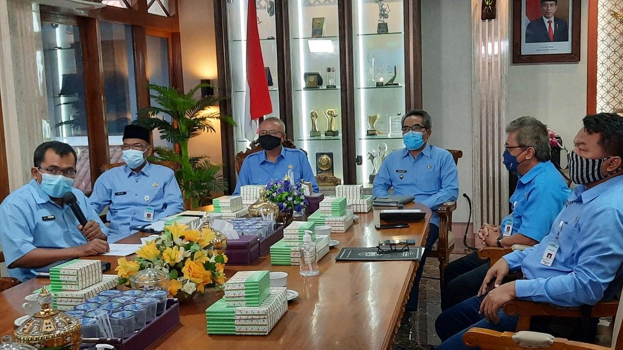 Bupati Sampaikan Pengumuman RUP Barang dan Jasa Kabupaten Bantul Tahun 2021