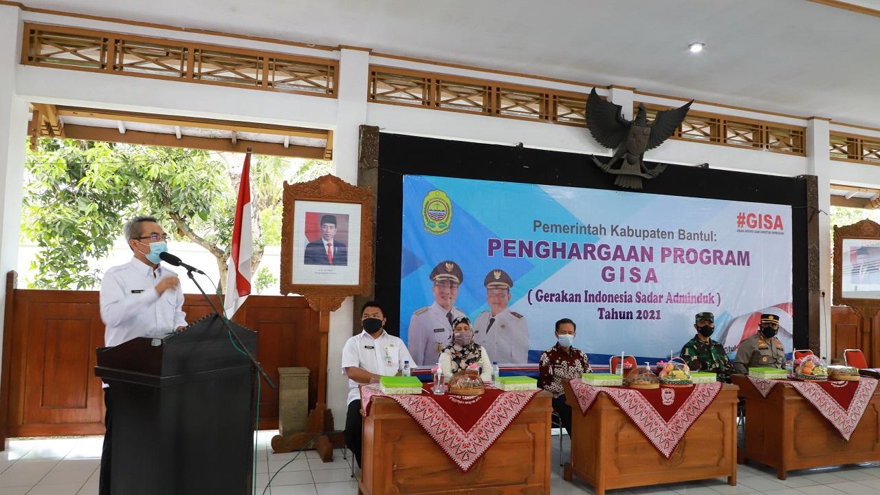 Bupati Bantul Canangkan Gerakan Indonesia Sadar Administrasi Kependudukan