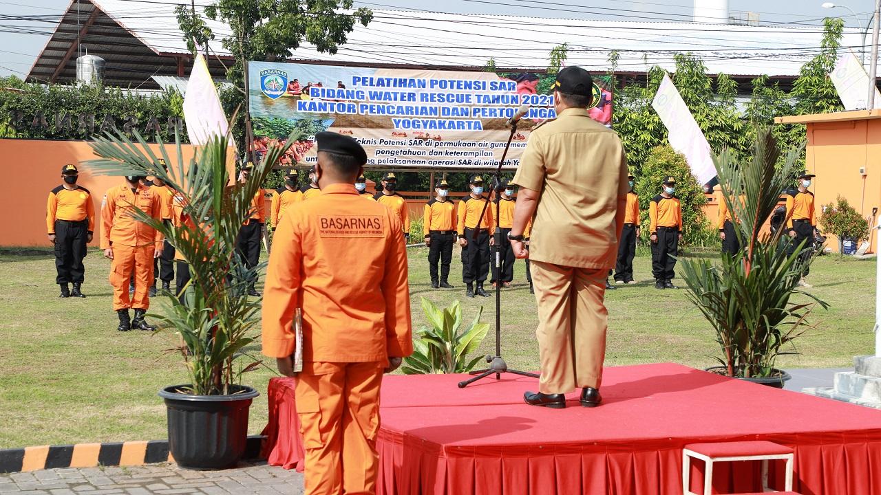 Wakil Bupati Bantul Buka Pelatihan Potensi SAR Bidang Water Rescue Tahun 2021