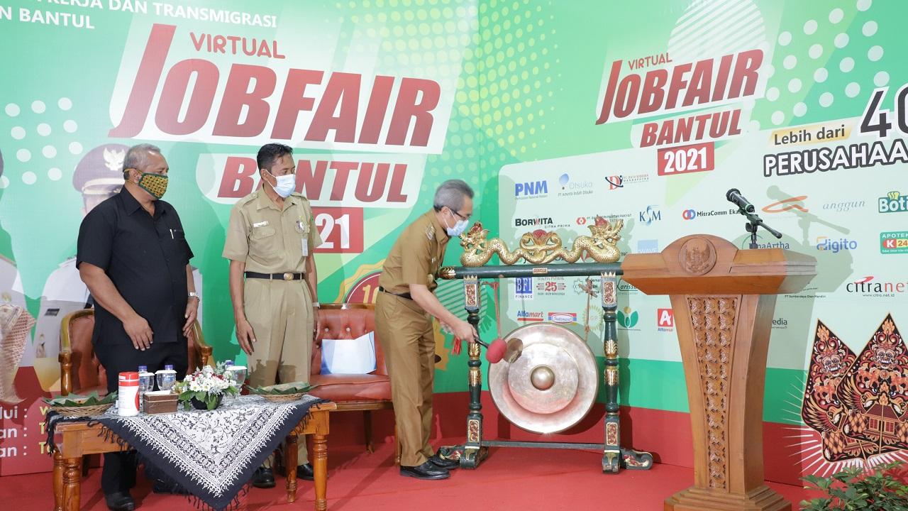40 Perusahaan Siap Tampung 2000 Tenaga Kerja di Job Fair Virtual Bantul 2021